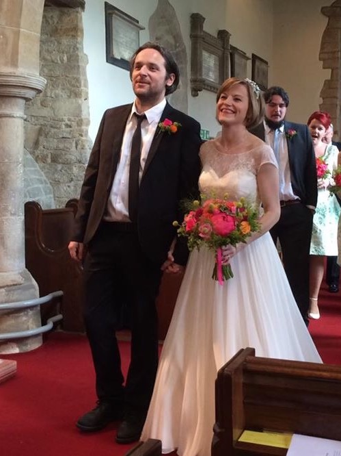 Congratulations Becci who looked so beautiful in her silk and lace gown from BOA.
