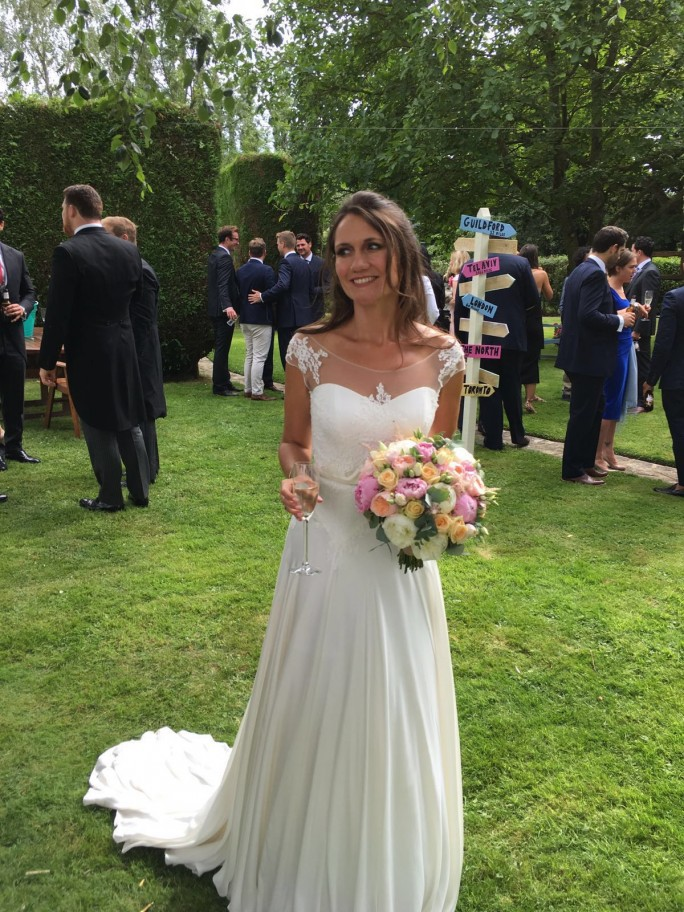 Thank you for the beautiful picture Jane. Looking incredible in your customised ivory silk gown.
