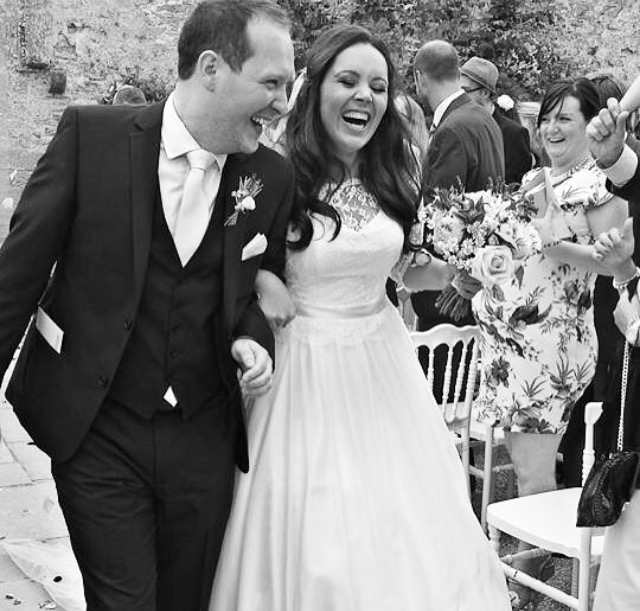 Congratulations to beautiful Lianne wearing her stunning ivory silk gown for her Autumn 2015 Wedding