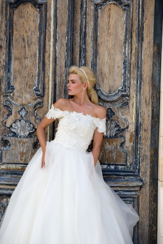 Lyn Ashworth by Sarah Barrett Waterlily Gown from the 2018 Daydreamer Collection