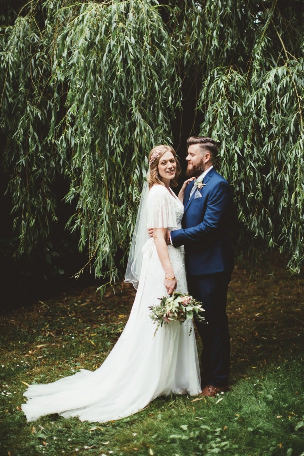 "Stacey wore the fabulous ""Loucia"" gown from Anouska G for her Hampshire wedding"